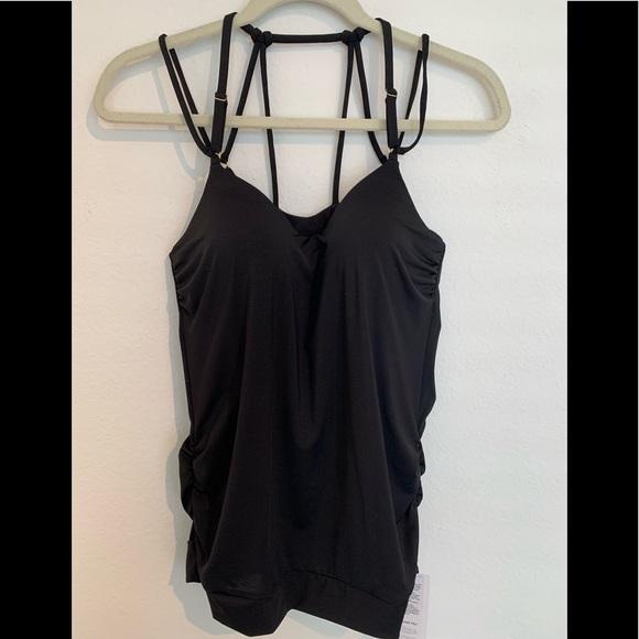 Athleta Other - New! Athleta aqualuxe black tanking M padded top